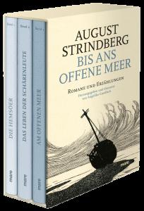 Bis ans offene Meer. 4 Bände: Romane und Erzählungen von August Strindberg