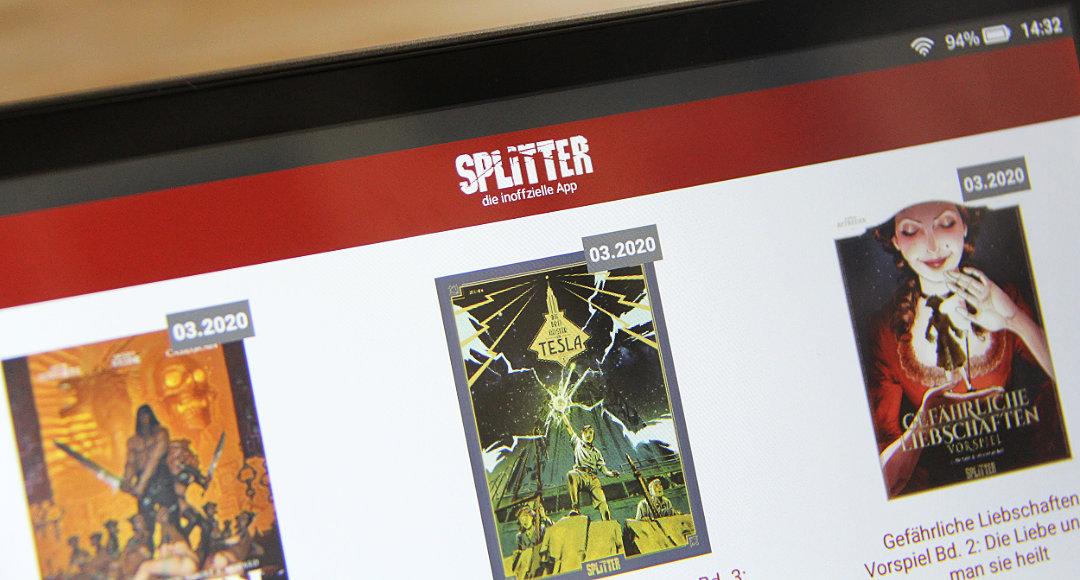 Die neue Splitter-App von Lesestunden